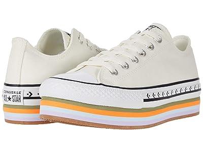 Converse Chuck Taylor All Star Layered Platform Ox (Egret/Total Orange/Gum) Women