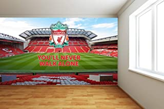 Official Liverpool Football Club - Anfield Stadium Full Wall Mural Wall Sticker Decal Vinyl Poster Print Mural (2.3m Height x 3m Width)