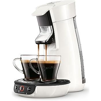 Philips Senseo Viva Cafe HD6563/60 Machine à café à dosettes, Crema Plus, Réglage de la force du café Sans détartrant liquide Blanc.