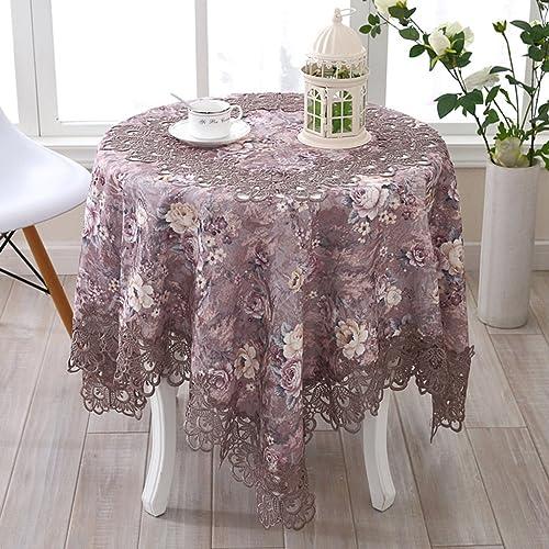 Küchenwäsche Runde Tischdecke, ländlichee Tischdecke Tischdecke Couchtisch Tuch runde Tischdecke ländlichee Spitze Tischmatten
