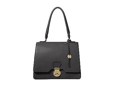 Lodis Accessories Rodeo RFID Justina Flap Satchel (Black) Satchel Handbags