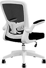 FelixKing オフィスチェア 椅子 デスクチェア メッシュチェア 事務椅子 昇降機能付き 調節可能アームレスト 腰サポー 通気性抜群 厚手 座面 360度回転 パソコンチェア 男女兼用 (白)