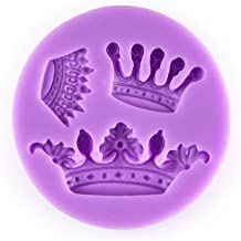 Tasty Molds 3 Mini Queen Crown Set Silicone Chocolate Fondant Candy Mold High Definition Quality Cupcake DIY Topper Cake Decoration Birthday Party Tool for Sugarcraft, Pastry, Polymer Clay Crafting