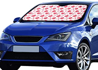 Car Windshield Sunshade Pig Painting Car Windshield SunshadeAuto Front Window Sun Shade Keeps Vehicle Cool Uv Rays