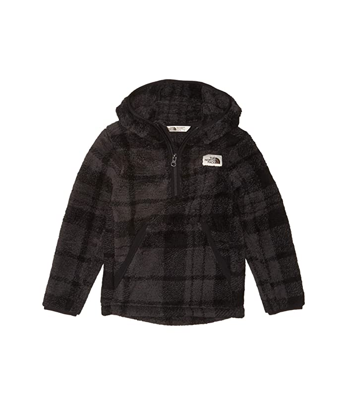 Campshire Hoodie (Little Kids/Big Kids) TNF Black Heritage 2 Plaid Print