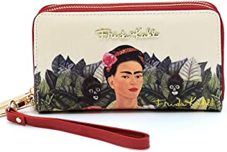 Frida Kahlo Around Zip Wallet with Wristlet, Monkeys Collection