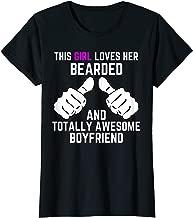 Womens I Love My Bearded Boyfriend Shirt Gift TShirt For Boyfriends