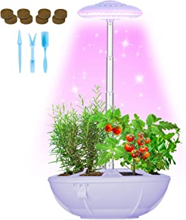 Hydroponics Growing System - Smart Indoor Garden Kit Height Adjustable Led Desklamp for Flower/Fruit/Vegetable, Self-Water...