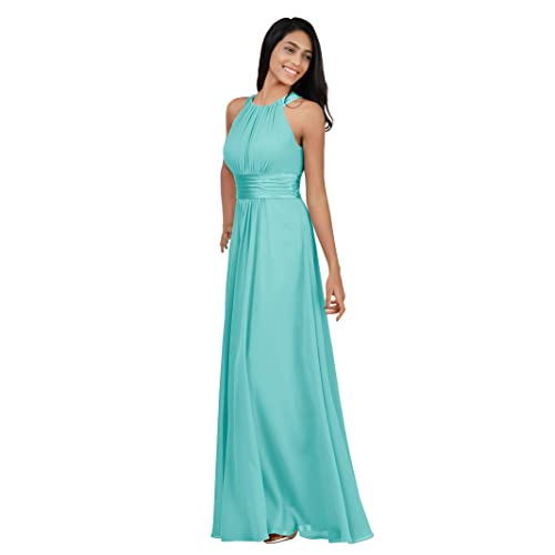 dd072d4166 Alicepub Bridesmaid Maxi Dresses Long for Women Formal Evening Party Prom Gown  Halter