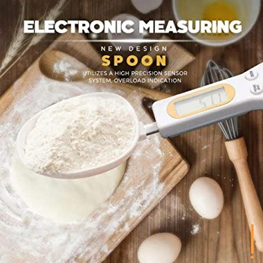 EZONEDEAL Digital Kitchen Spoon Scale Weighted 500g/0.1g Measuring Spoon Food Scale Spoon Kitchen Measuring Tool with LCD Dis