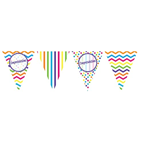 Congratulations Black White Aqua Turquoise Engagement Party Bunting Flag Banner
