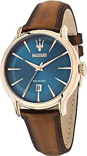 Orologio da uomo, Collezione Epoca, movimento al quarzo, tempo e data, in acciaio, PVD oro rosa e cuoio - R8851118001