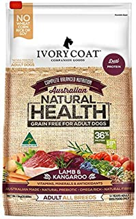Ivory Coat 17024 Adult and Senior Lamb & Kangaroo Grain Free Dog Food (13kg + 2kg Free, 15kg)