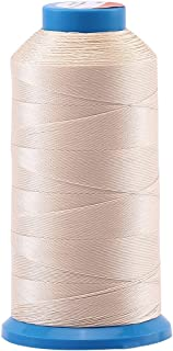 Selric [1500 Yards/Coated/No Unravel Guarantee/21 Colors Available] Heavy Duty Bonded Nylon Threads #69 T70 Size 210D/3 for Upholstery, Leather, Vinyl, and Other Heavy Fabric (Beige)