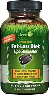 Irwin Naturals Forskolin Fat-Loss Diet Healthy Weight Loss Support + Fat Burner with Flaxseed & Coconut Oil - 60 Liquid So...