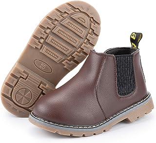 CENCIRILY Kids Girls Boys Waterproof Side Zipper Short Ankle Winter Snow Boots Hiking Outdoor Chelsea boots (Toddler/Littl...