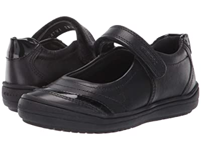 Geox Kids Jr Hadriel 16 (Little Kid) (Black Oxford) Girls Shoes