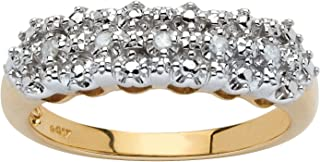Palm Beach Jewelry 10K Yellow Gold Genuine Diamond Accent Cluster Ring