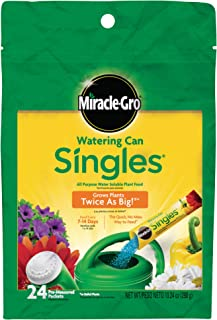 Miracle-Gro Watering Can Singles - شامل 24 بسته از قبل اندازه گیری شده (10.24 اونس) از غذای گیاهی همه منظوره (کود گیاهی)