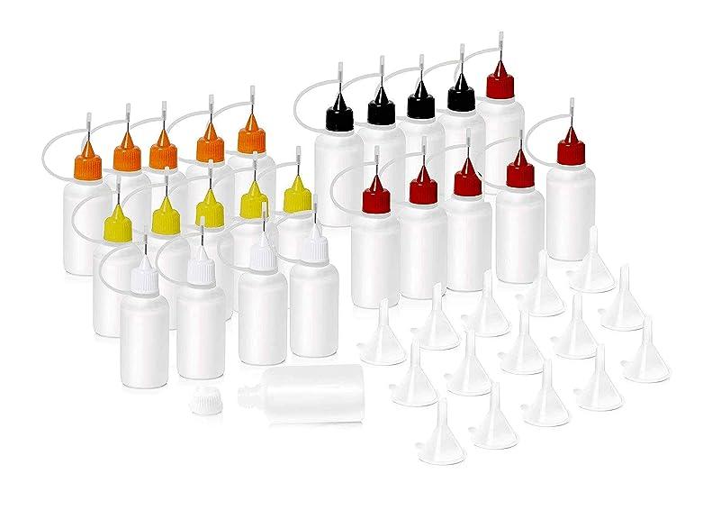 細いウッズ一回HNYYZL 針付き スポイトボトル プラスチック製 電子タバコ 詰め替え容器 液体 貯蔵用 ニードルチップ付 25书漏斗15必备空瓶用于电子烟液体注射