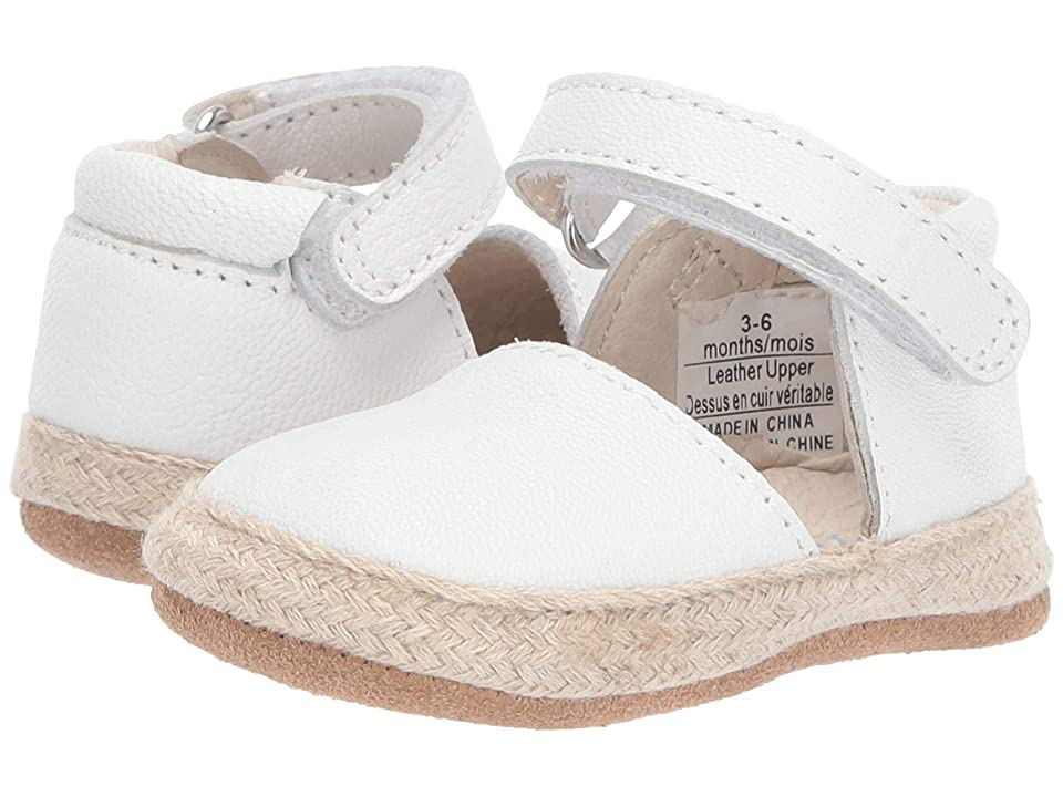 Robeez Kelly Espadrille First Kicks (Infant/Toddler) (White) Girl