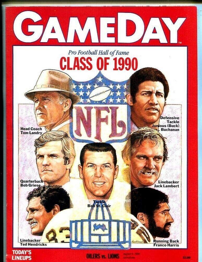 1990 Houston Oilers Phoenix Mall v Detroit Lions Soldering 9 Program 8 50229b Astrodome