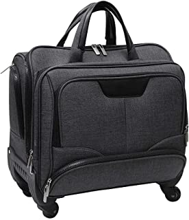 Premium Cabin Luggage Trolley | Softside Spinner Travel Bag with 2 Wheel Laptop Case for Men Women - Santhome CARYONN