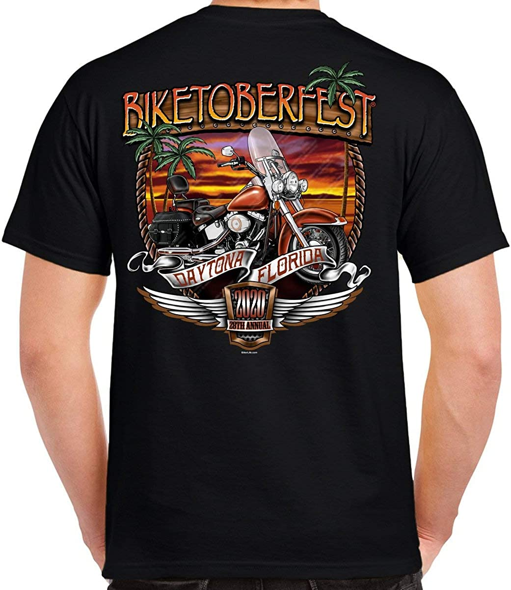 2020 Biketoberfest Daytona Beach Sunset Bike Shield T-Shirt