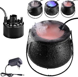 Seatechlogy Smoke Fog Machine Brume Diffuseur, Halloween Machine À Brouillard Brumisateur Eau Fontaine, LED Chaudron Sorci...
