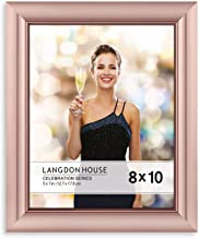 Langdon House 8x10 Picture Frame (1 Pack, Rose Gold), Rose Gold Photo Frame 8 x 10, Wall Mount or Table Top, Set of 1 Celebration Collection