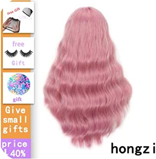 Long Wavy Wigs For Black Women African American Synthetic Hair Grey Brown Wigs With Bangs Heat Resistant Wig-In Synthetic None,#22,24Inches,