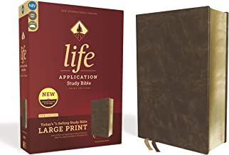 Niv, Life Application Study Bible, Third Edition, Large Print, Bonded Leather, Brown, Red Letter Edition