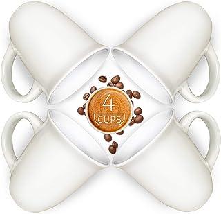 Sophie & Panda Stoneware Coffee Mug Ceramic Coffee Cups Tea Mug (4 Mugs 15 Oz) - Enjoy a delightful drinking experience - ...
