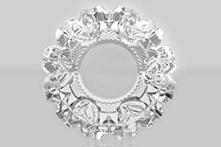 EVEZA Crystal Quality Glass Ash Tray, Square Tabletop | Round Tabletop | Glass Ashtray | Smoke Collectible Tribal Decorati...