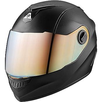 Aaron Alpha Full Face Helmet with Metallic Visor (Black)