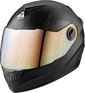 Aaron Alpha Full Face Helmet with Metallic Visor (Black)