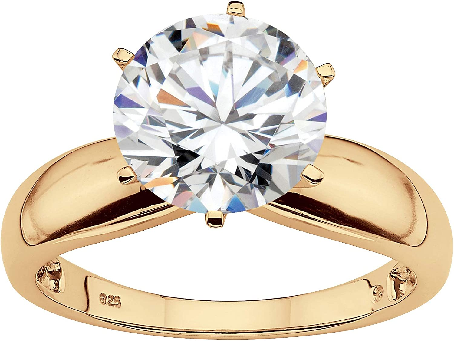 18K Gold-Plated or Platinum-Plated Round Marq Sterling Silver New product!! Gifts