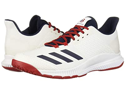 adidas Crazyflight Bounce 3 (Footwear White/Collegiate Navy/Power Red) Women