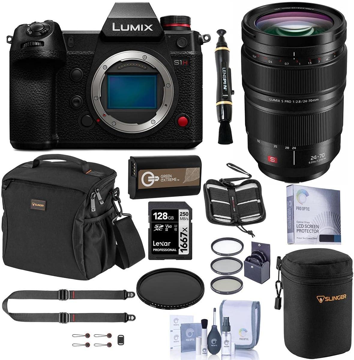 Panasonic Lumix DC-S1H Department store Mirrorless Camera with 24-70mm wholesale 2. PRO F S