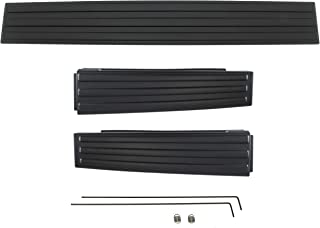 IAMAUTO 12817 Flex Flexible Step Integrated Tailgate Protector Trim Molding 3 Piece Kit For 2009 2010 2011 2012 2013 2014 Ford F150