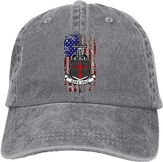 Men Women Knights Templar Deus Vult Baseball Cap Denim Dad Hat Trucker's Cap