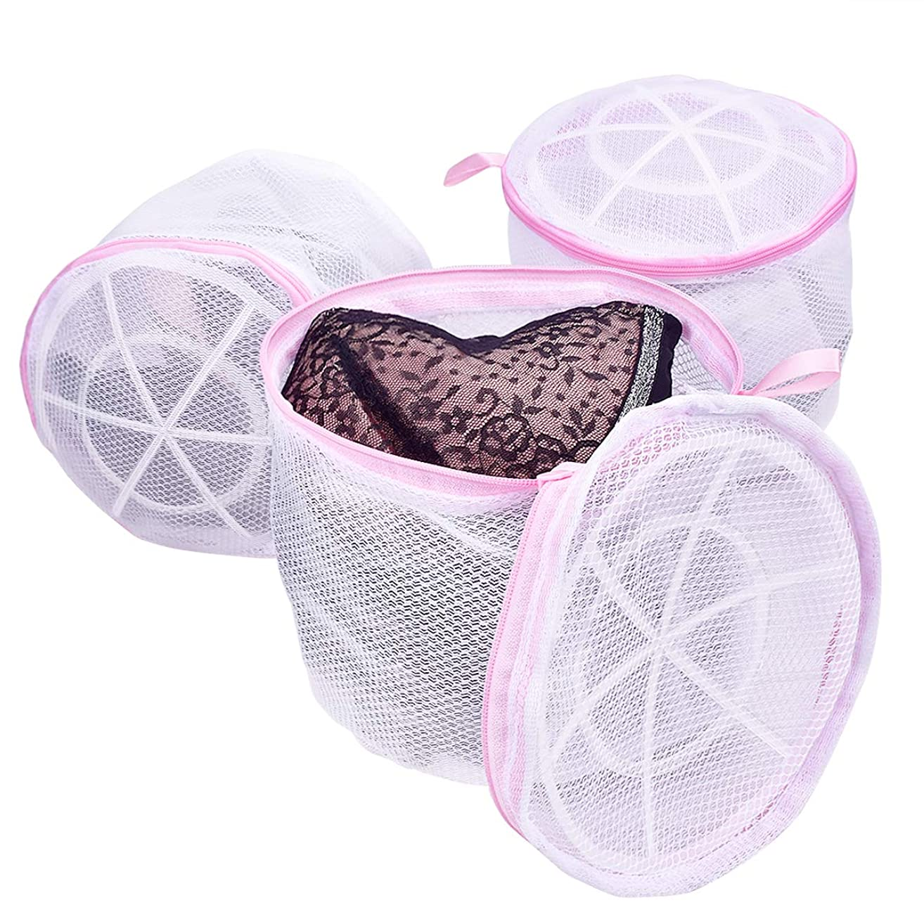 Scientific Bra Laundry Bags for Bras, TANTAI Healthy Women Wash Mesh Bag for Delicates - Double Roof Bracket Structure Design - For Adult and Baby Lingerie ,Knickers,Socks and Underwear ( 3 Pack )