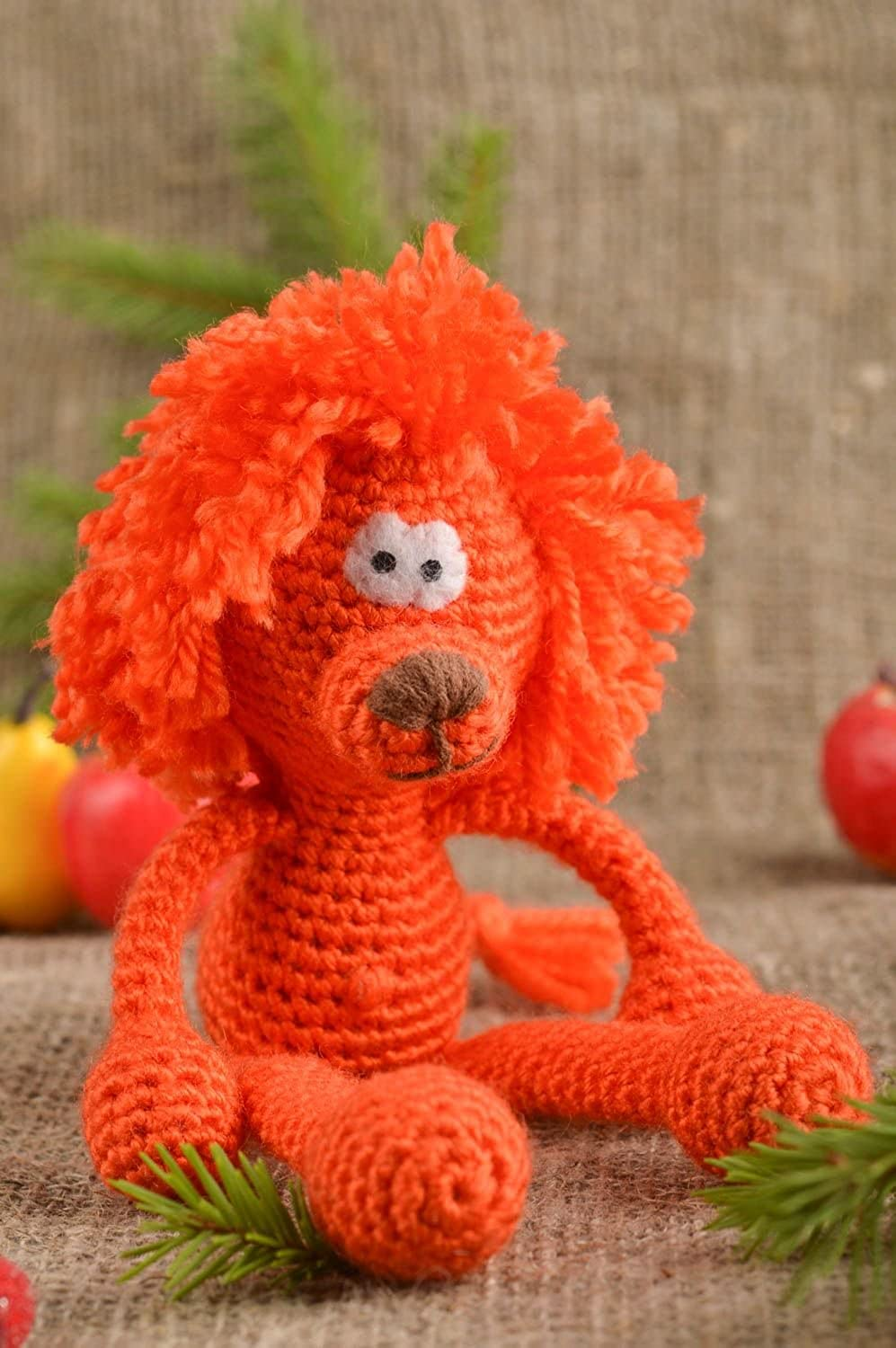 Handmade Crocheted Toy Baby Soft Toy Crocheted Lion Toy Design Crocheted Toys