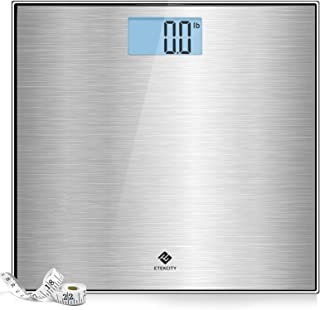Sponsored Ad - Etekcity Stainless Steel Digital Body Weight Bathroom Scale, Step-On Technology, Large Blue LCD Backlight D...