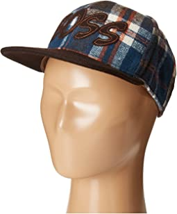 "Flat Bill Adjustable Cap Hat with ""Boss"" Cut Out (Little Kids/Big Kids)"