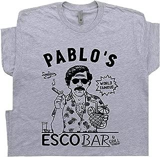 Pablo Escobar T Shirt Famous Bar Cool Weird Vintage Pub Tee Mugshot Drug Kingpin Men Women Tshirt