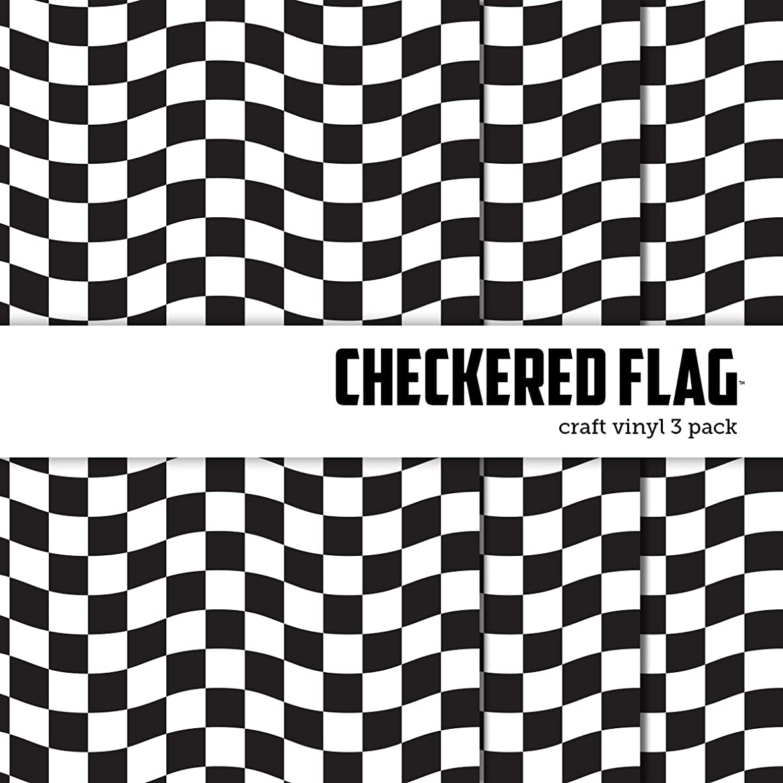 Checkered Race Flag Printed Craft Vinyl 12