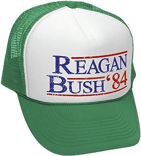 14ddf746 Reagan Bush '84 - Funny Retro Vintage Style - Unisex Adult Trucker Cap Hat