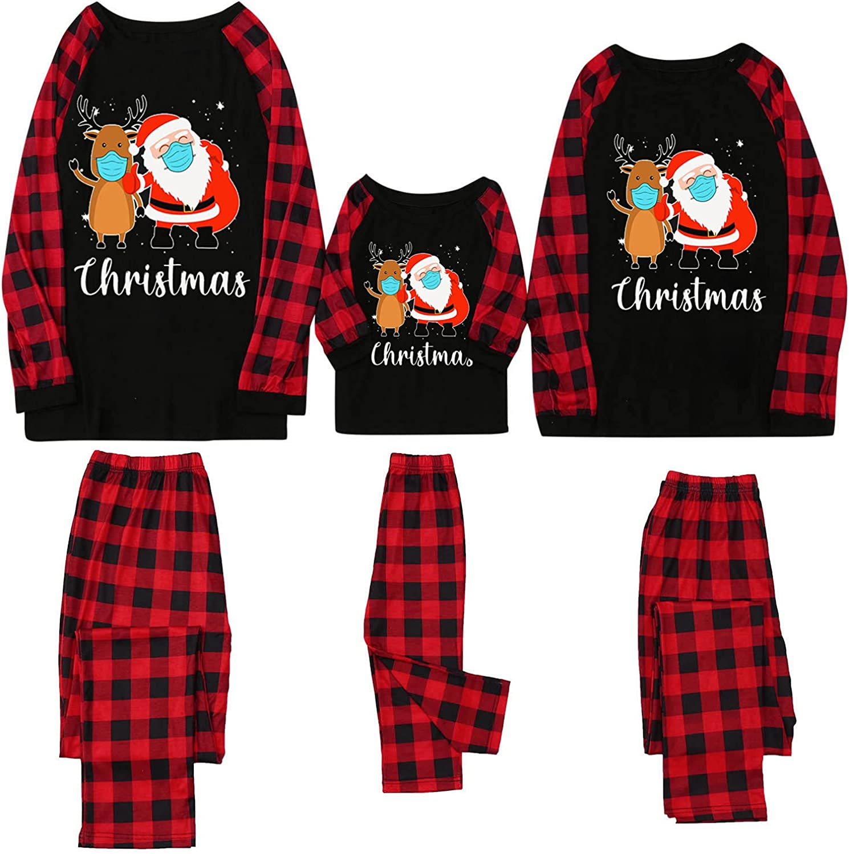 Family Matching Pajamas Sets,Christmas Holiday Nightwear Household Sleepwear Sets,Comfy Nightgown Loungewear Pjs