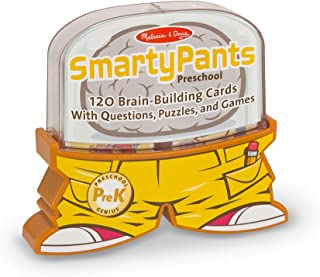 Melissa & Doug Smarty Pants Preschool Card Set (Educational Trivia Card Game, Developed with Educators, 120 Cards, Great Gift for Girls and Boys - Best for 3, 4, and 5 Year Olds)